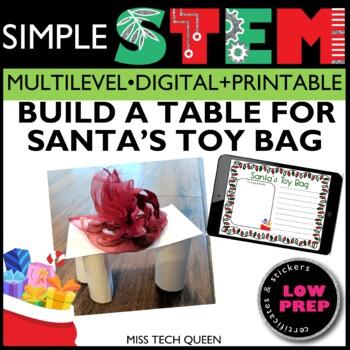 Christmas STEM Challenge - Santa's Toy Table