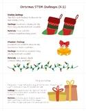 Christmas STEM Challenge Task Cards