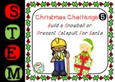 Christmas STEM Challenges - 1 to 5 - Catapult, Raft, Vehicle, Tree, Zip Line