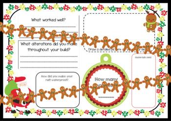 Christmas STEM Challenges - 1 to 5 - Catapult, Raft, Vehicle, Tree, Zip Line