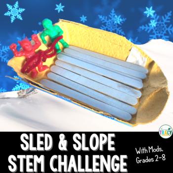 Christmas or Winter STEM Challenge: Sleigh & Slope or Sled & Slope