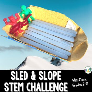 Christmas STEM or Winter STEM Challenge: Sleigh & Slope or Sled & Slope