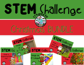 Christmas STEM Engineering Challenge Bundle