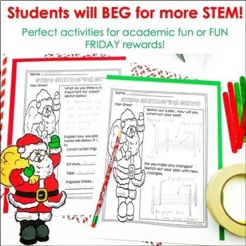 Christmas December STEM Engineering Challenges