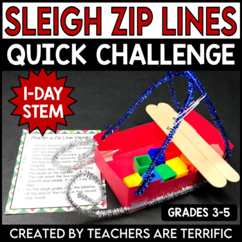 Christmas STEM Quick Challenge Build a Toy Sleigh Zip Line