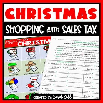 Christmas Sales Tax Worksheets