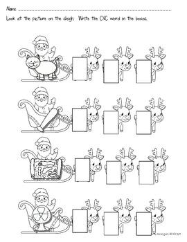 Christmas Sampler {FREEBIE!} - Ten-Frames, CVC Words, Stationery