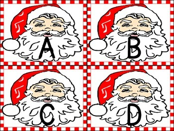 Christmas Santa  Alphabet Letter Flashcards Uppercase and Lowercase