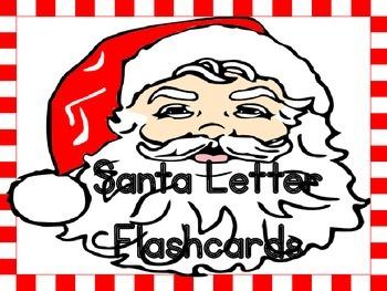 Christmas Santa  Alphabet Letter Flashcards Uppercase and