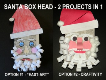 "*Christmas Santa Box Heads-2 Projects in One (""Easy-art""and Advanced)"