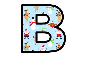 Christmas, Santa, Bulletin Board Letters, Decor, A-Z, a-z, 0-9, Punctuation