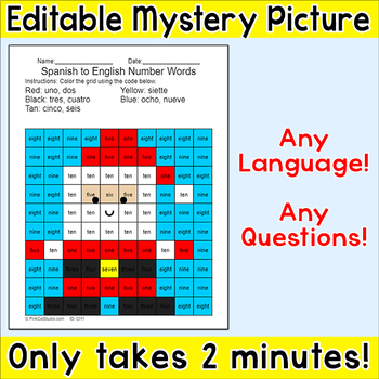 Christmas Santa Claus Editable Mystery Picture - Any Language! Any Questions!