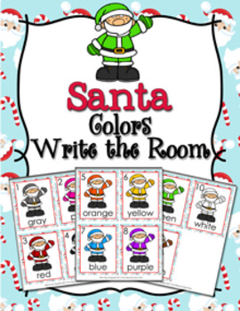 Christmas Santa Colors Write the Room Activity