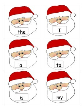 Christmas Santa Common Core Sight Words
