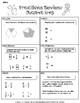 Christmas Santa Emoji [Math Fractions Review]