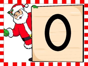 Christmas Santa Full Page Number Posters 0-100