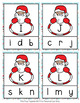 Christmas Santa Letter Match Clip Cards