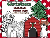 Christmas Santa Paws Double Digit Addition With Regrouping