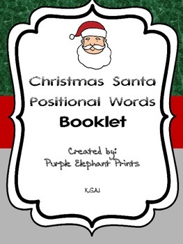 Christmas Santa Positional Words booklet