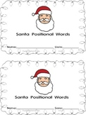 Christmas Santa Positional Words booklet
