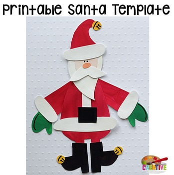 Christmas Santa Printable Craftivity Template