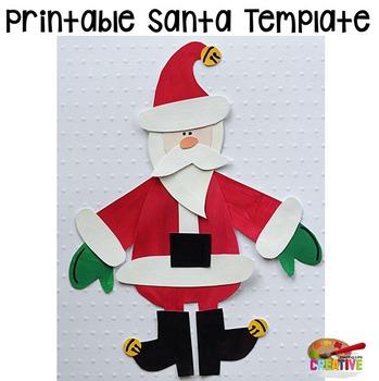 Christmas Santa Printable Craftivity Template