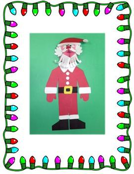 Christmas Santa Puppet Art Project