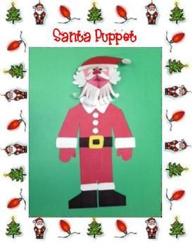 Christmas Santa Puppet Art Project