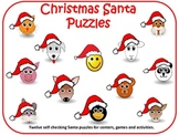 Christmas Santa Puzzles 0-12 Numbers Match Words