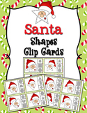 Christmas Santa Shapes Clip Cards