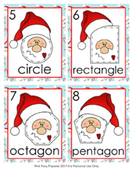 Christmas Santa Shapes Write the Room