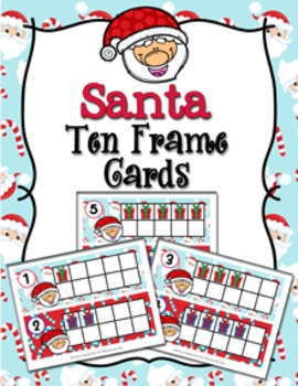 Christmas Santa Ten Frame Cards