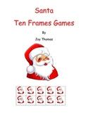 Christmas Santa Ten Frames games