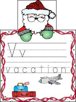 Christmas Santa Tracing and Writing Ring Book