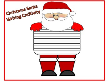 Christmas Santa Writing Craftivity