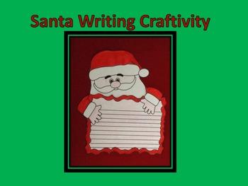 Christmas Santa Writing Page