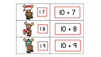 Christmas Santa and Friends Eight Games for Teen Numbers