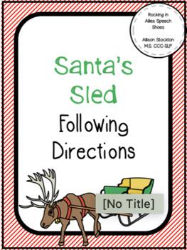 Christmas Santa's Sled / Sleigh Following Directions