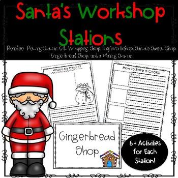 Christmas - Santa's Workshop Bundle - Writing + Math, Hands-On/Play Ideas