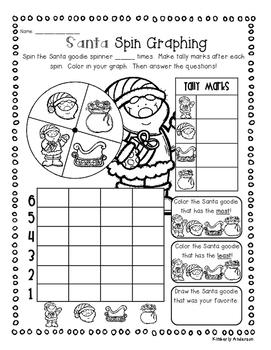 Christmas Santa - Elf Graphing Fun Activities!