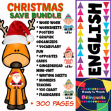Christmas Save Bundle (7 products in 1- Math & ELA Centers)