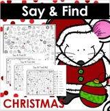 Christmas Say and Find NO PREP PRINT AND GO Articulation Activity