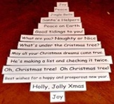 Christmas Saying Shape Poem
