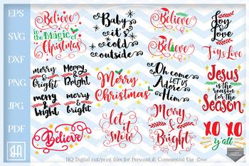 Christmas Sayings.Christmas Sayings Bundle Svg Christmas Sayings Svg 12 Christmas Cut Files Svg