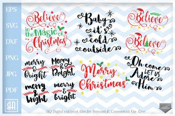 Christmas Sayings Bundle Svg Christmas Sayings Svg 12 Christmas Cut Files Svg