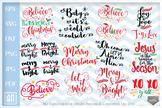 Christmas Sayings Bundle SVG, Christmas Sayings SVG, 12 Ch