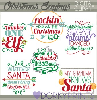 Christmas Sayings Clip Art