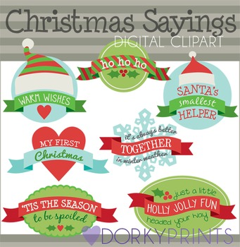 Christmas Sayings Digital Clip Art