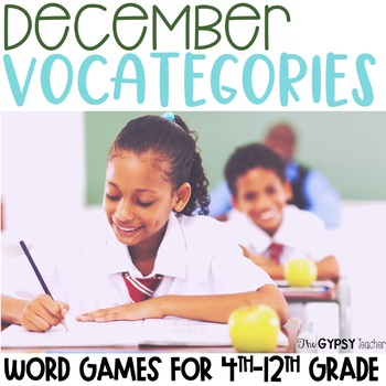 Christmas Categories Game - December - Winter Holidays - Baking - Generosity
