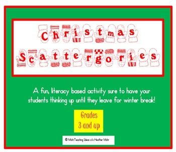 Christmas Scattergories